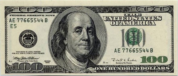 Benjamin Franklin - 100 dolláros