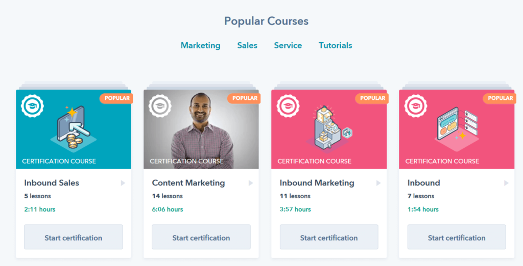 HubSpot Academy - Marketing kurzusok