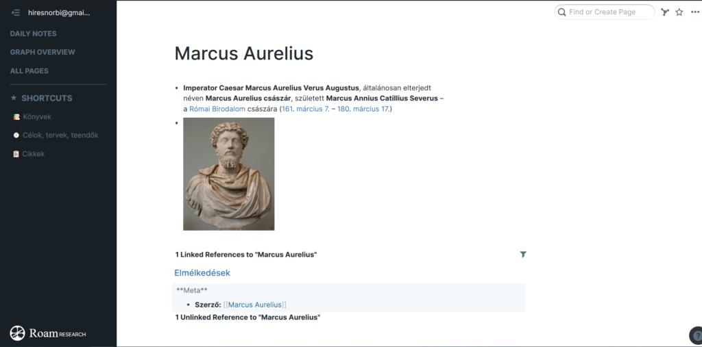 marcus aurelius jegyzet