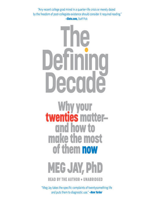 Meg Jay - The Defining Decade